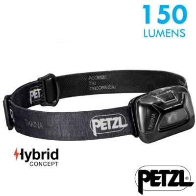 【法國 Petzl】新款 TIKKINA 超輕量戶外頭燈(150流明)_黑