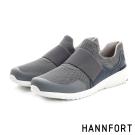 HANNFORT RS8網布套入式氣墊休閒鞋-男-城市灰