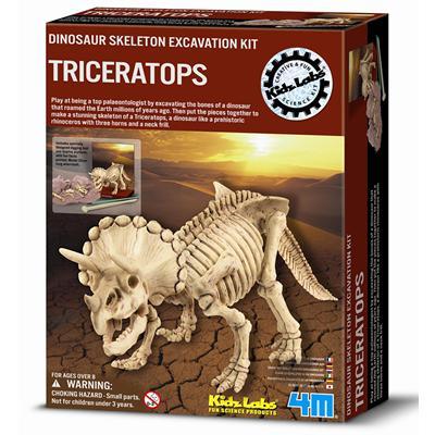 《4M挖掘考古》Dino Triceratops挖掘三角龍