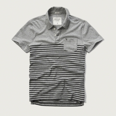 AF a&f Abercrombie & Fitch 短袖 POLO 灰色 172