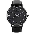 PICONO Amour 系列黑色真皮手錶