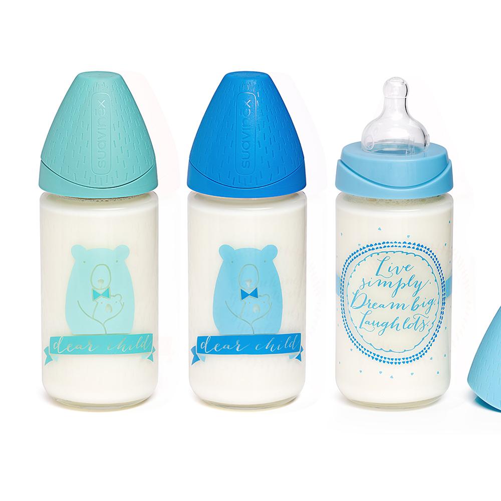 奇哥 suavinex 寬口玻璃奶瓶240ML (3色選擇)
