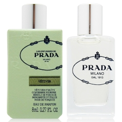 PRADA 香根草精粹淡香精8ml+隨機針管香水一份