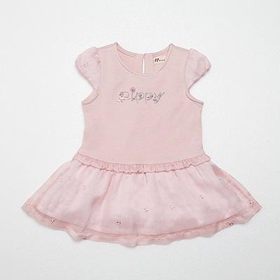 PIPPY 假兩件式花藤字母洋裝 粉
