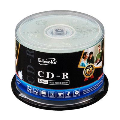 E-books-國際版-52X-CD-R-150片桶-隨附贈24入硬殼CD收納包