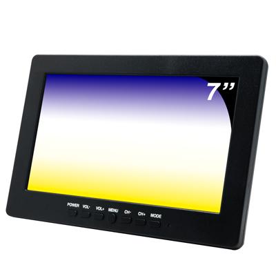 奇巧CHICHIAU 7吋LCD螢幕顯示器(三組影像/一組聲音輸入)