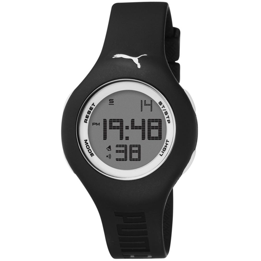 PUMA 陽光信號電子腕錶-黑/小/40mm