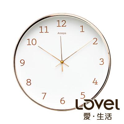 LOVEL 30cm 玫瑰金框靜音數字時鐘-共4款