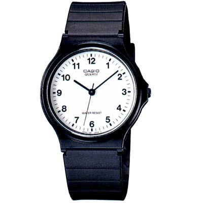 CASIO 超輕薄感數字錶(MQ-24-7B)-白面數字面