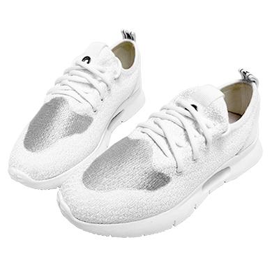 Robinlo & Co.超輕量透氣飛織運動鞋 白色