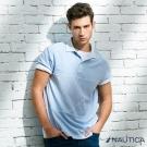 Nautica 時尚未來感短袖POLO衫-淺藍