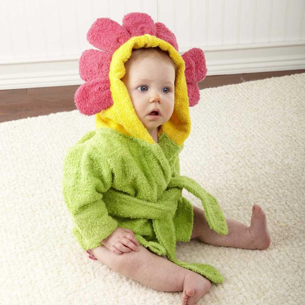 Baby Aspen 小小花朵嬰兒浴袍彌月禮組