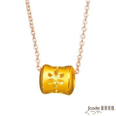 J code真愛密碼金飾 煙花黃金 316L玫瑰金白鋼項鍊