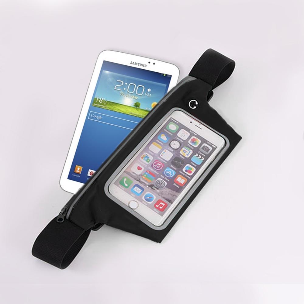 活力揚邑-防水可觸控反光手機平板腰包-7吋以下通用-黑