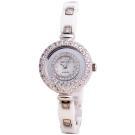 Royal Crown 璀璨光芒鑲晶鑽陶瓷腕錶-白