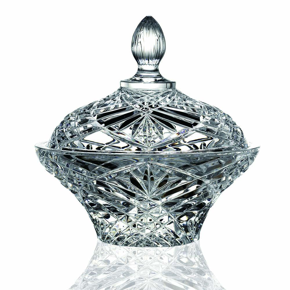 義大利RCR奧奇莉無鉛水晶盅型糖果點心罐D18cm