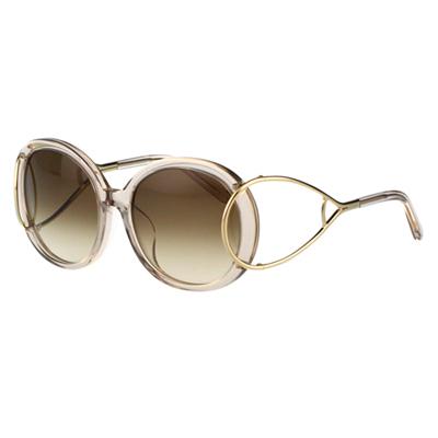 CHLOE太陽眼鏡 圓框 廣告款(果凍粉色)