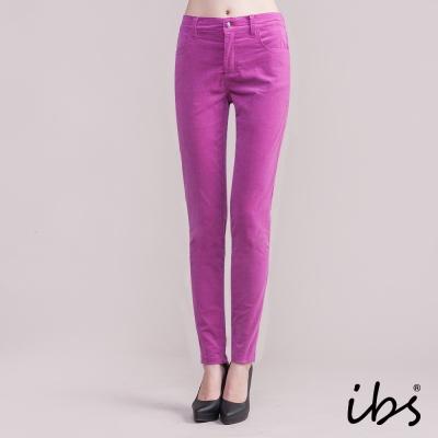 ibs 暖著彈力燈芯絨褲-紫色-女