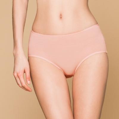 台灣製 保養級天然蠶絲蛋白低敏感透氣 M-XL 中腰內褲 高雅粉 可蘭霓Clany