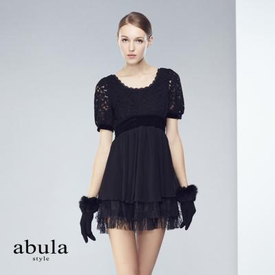 abula-style-圓領短袖小禮服洋裝