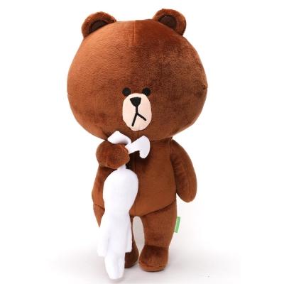 LEing-LINE熊大造型絨毛娃娃-熊大抓兔兔