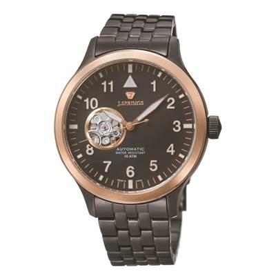 J.SPRINGS Semi-Skeleton 小鏤空機械腕錶-IP黑/42mm