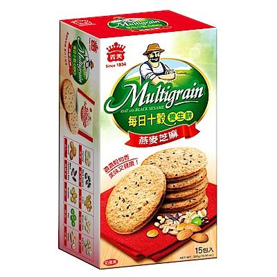 義美 每日十穀養生餅-燕麥芝麻(285g)