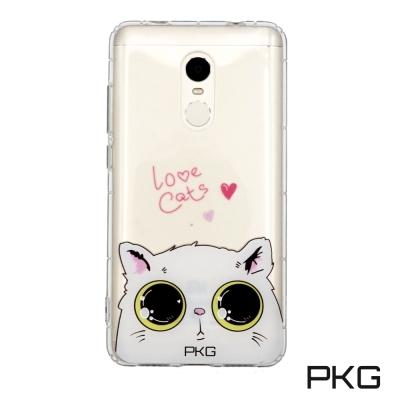 PKG 紅米Note4X 空壓氣墊保護殼(時尚彩繪)娃娃貓