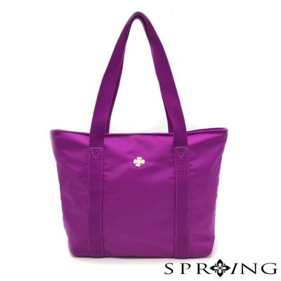 SPRING-日常休閒防水牛津布托特包-薰衣草紫