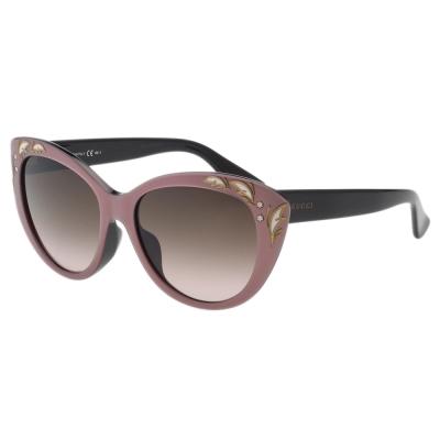 GUCCI- 貓眼 花園系列 太陽眼鏡 (粉膚色)