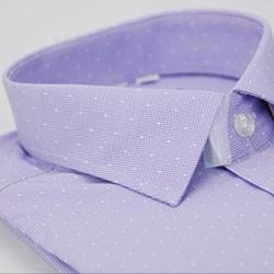 【金安德森】紫色白方格窄版長袖襯衫