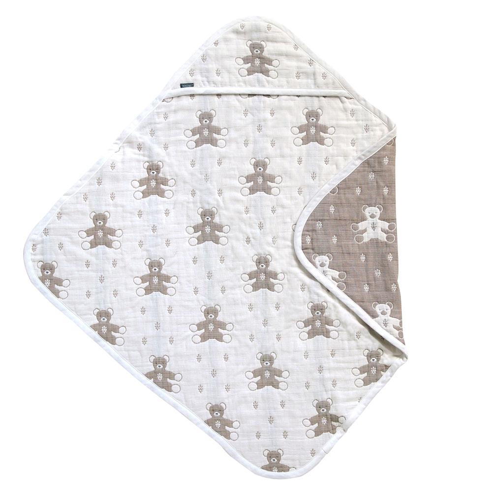 【SOULEIADO】六層紗普羅旺斯熊包巾