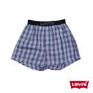男款 Woven Boxer 細格紋四角褲 藍紫色-Levis
