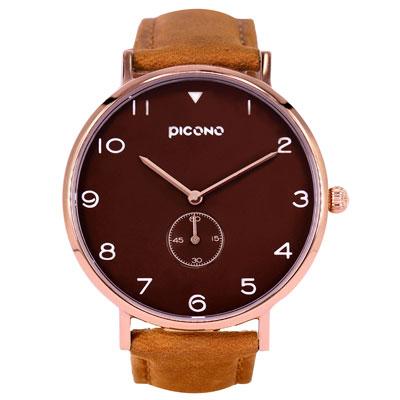 PICONO SPY S系列 輕薄真皮錶帶手錶(YS-7203)