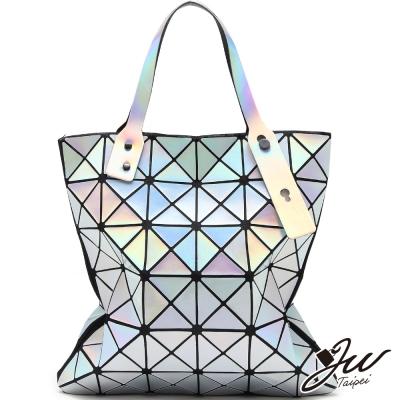 JW魔幻雷射幾何拼貼變形包-共5色-星光銀