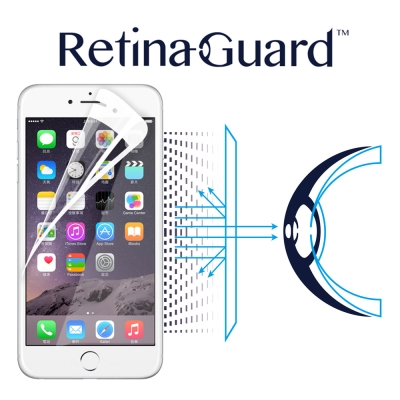 RetinaGuard 視網盾 iphone 6 plus / 6s plus防藍光保貼-白框