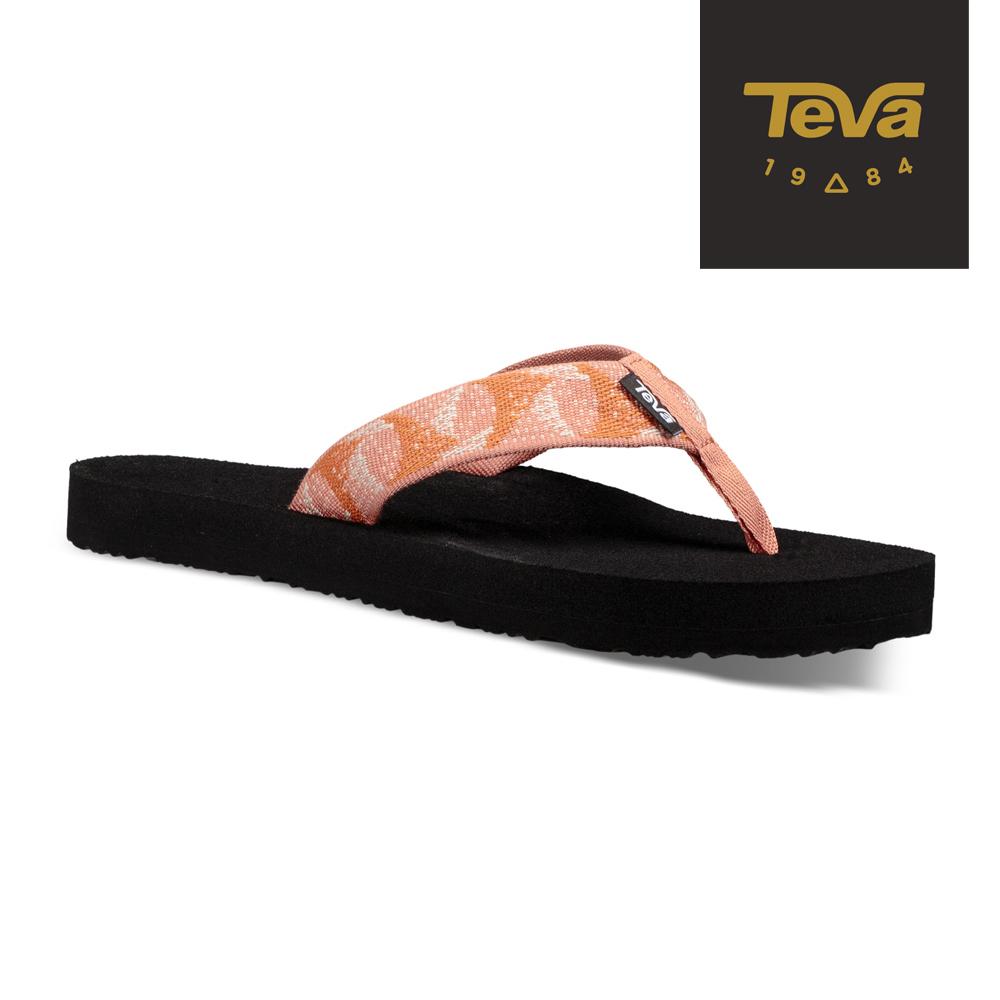 TEVA 美國-女 Mush II 經典織帶夾腳拖鞋 珊瑚橘