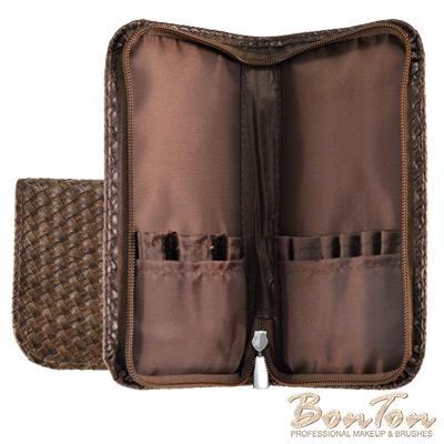 BonTon 9支咖啡皮革編織刷具包