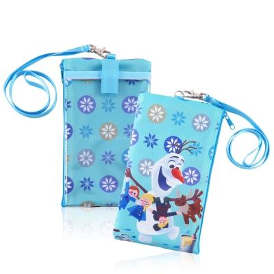 Disney迪士尼冰雪奇緣直式手機觸控包/萬用袋_布偶