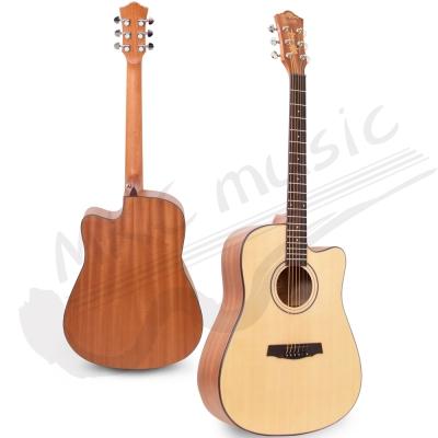 Eison 西班牙工藝 雲杉木 導圓角包邊 民謠吉他(41吋/D桶)+豪華5配件