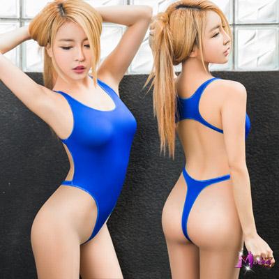 死庫水 海洋藍美背高衩死庫水連身衣(藍F) Moira