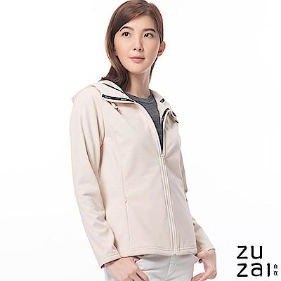 zuzai 自在卓絕連帽短版防水保暖外套-女-米黃色