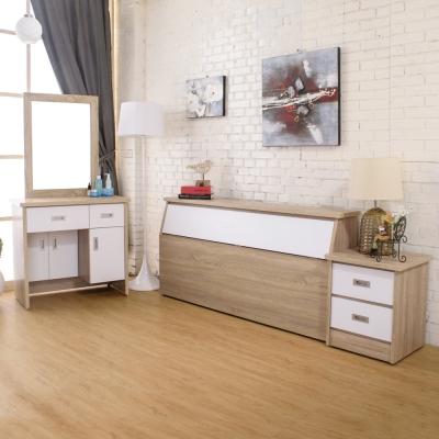 AT-HOME-威尼斯梧桐白雙人臥室三件組-床頭箱