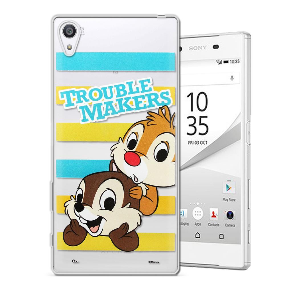 迪士尼授權正版SONY Xperia Z5 5.2吋大頭招呼系列手機殼奇奇&蒂蒂