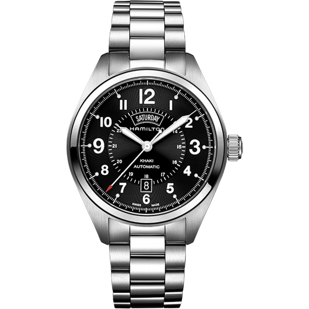 Hamilton KHAKI FIELD卡其野戰機械腕錶-黑x銀/42mm