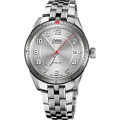 Oris 豪利時 Artix GT日期機械腕錶-銀/37mm