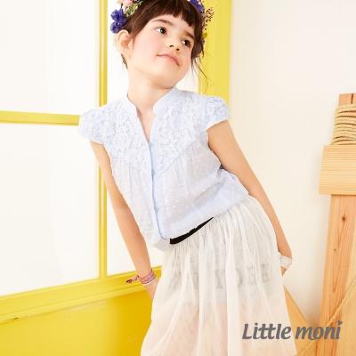 Little moni New York女孩個性紗裙 白色