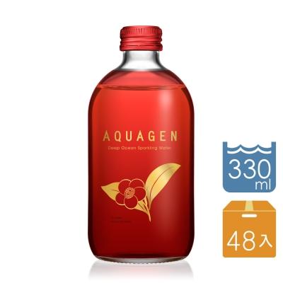 AQUAGEN海洋深層氣泡水斯里蘭卡山茶風味2箱(330mlx24瓶/箱;共48瓶)