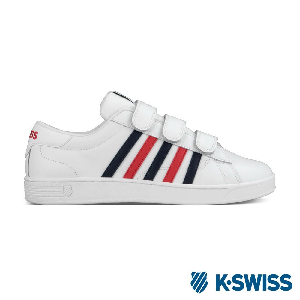 K-Swiss Hoke 3-Strap CMF 美式休閒鞋-男-白/藍/紅