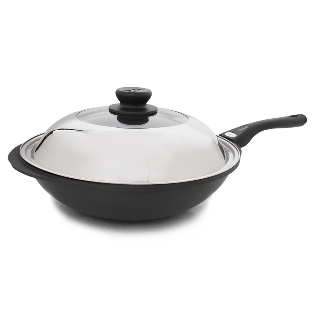 牛頭牌 小牛黑石炒鍋33cm(單把)
